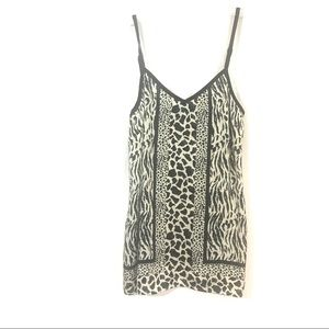 Express silky animal print black/white cami top